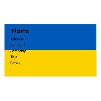 Tarjeta de visita con la bandera de Ucrania