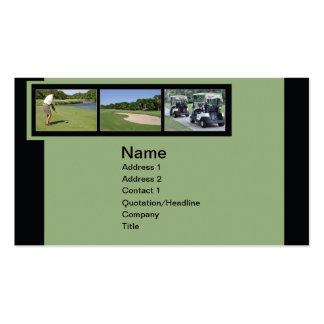 tarjeta de visita con las fotos del golf