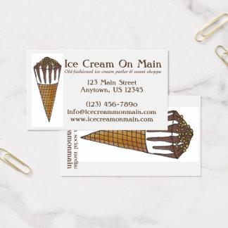 Tarjeta De Visita Cono dulce de nuez del Shoppe del helado de