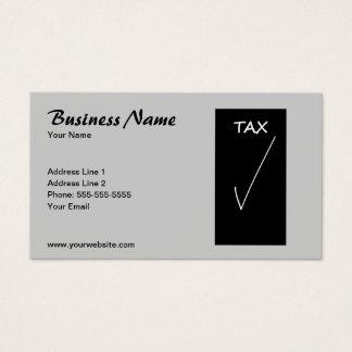 Tarjeta De Visita Consejero de impuesto gris simple