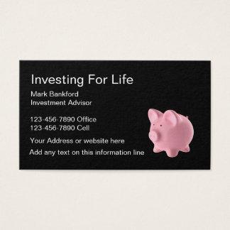 Tarjeta De Visita Consejero de inversión