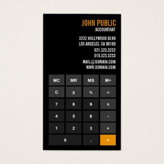 Tarjeta De Visita Consejero financiero de la calculadora del