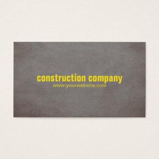 Tarjeta De Visita Construcción moderna del amarillo de la piedra de
