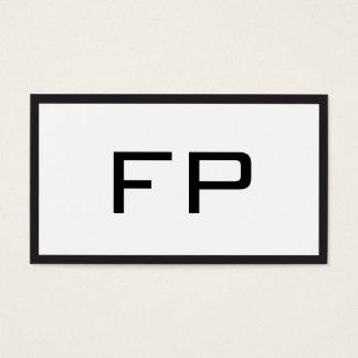 Tarjeta De Visita Consultor blanco y negro del monograma