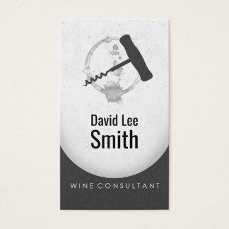 Tarjeta De Visita Consultor del vino