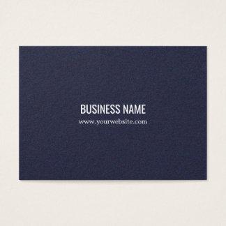 Tarjeta De Visita Consultor elegante minimalista del azul de la