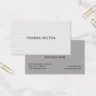 Tarjeta De Visita Consultor elegante simple de la textura