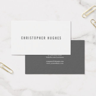 Tarjeta De Visita Consultor minimalista profesional del blanco gris