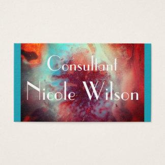 Tarjeta De Visita Consultor - moda moderna contemporánea abstracta