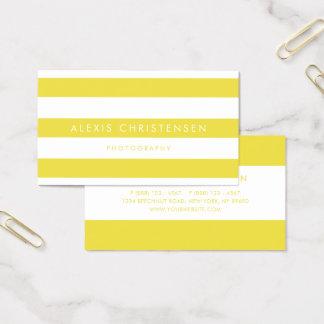 Tarjeta De Visita Contemporáneo amarillo brillante del modelo de las