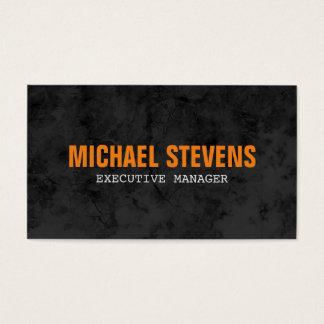 Tarjeta De Visita Contemporáneo moderno elegante anaranjado gris del