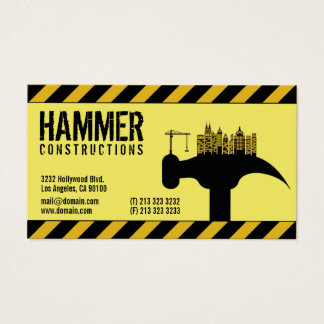 Tarjeta De Visita Contratista moderno del constructor de la