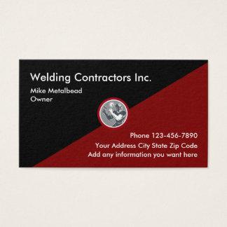 Tarjeta De Visita Contratistas Businesscards de la soldadura