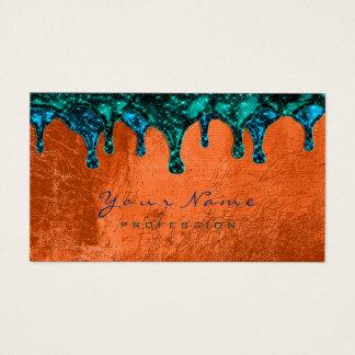Tarjeta De Visita Coral verde azulado azul de la depilación de
