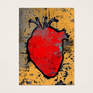 Tarjeta De Visita corazón anatómico