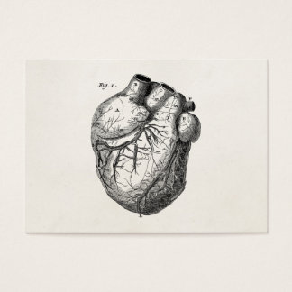 Tarjeta De Visita Corazones cardiacos retros de la anatomía del