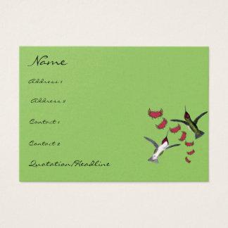 Tarjeta De Visita Corazones del Grunge de los pájaros del tarareo