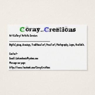Tarjeta De Visita Corny_Creations