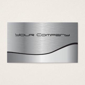 tarjeta de visita corporativa de plata del