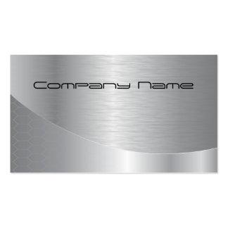 Tarjeta de visita corporativa de plata elegante