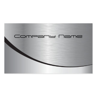 Tarjeta de visita corporativa de plata
