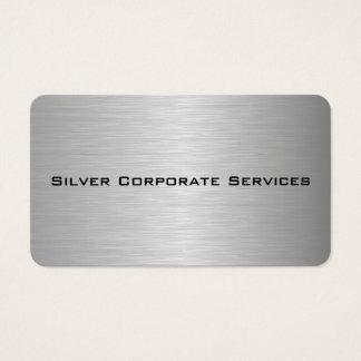 Tarjeta De Visita Corporativo metálico en blanco