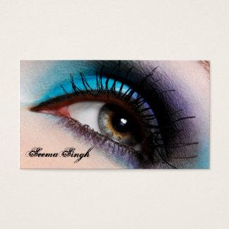 Tarjeta De Visita Cosméticos del artista de maquillaje del ojo de la