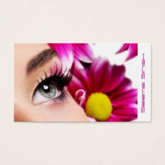 Tarjeta De Visita Cosméticos magentas del artista de maquillaje de