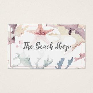 "Tarjeta de visita costera ""de la tienda de la"