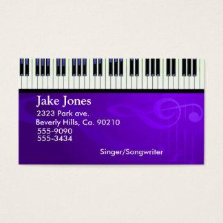 Tarjeta De Visita Costuras del piano del teclado