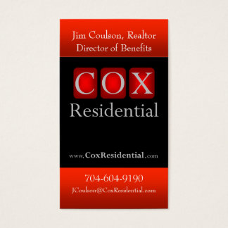 Tarjeta De Visita $cox residencial