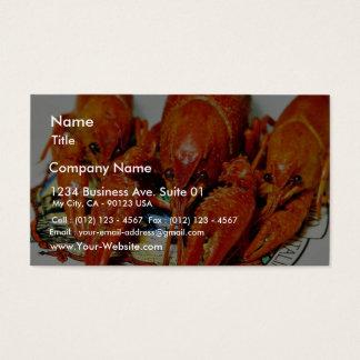 Tarjeta De Visita Crawdads Craytfish de los cangrejos