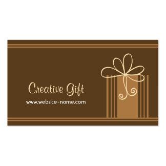 Tarjeta de visita creativa de la tienda de regalos