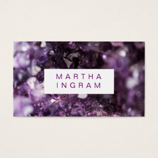 Tarjeta De Visita cristal Amethyst púrpura intrépido del diseño