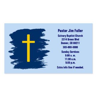 Tarjeta de visita cristiana cruzada del oro