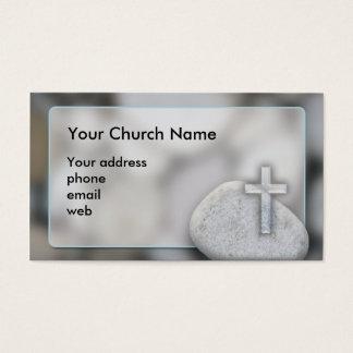 Tarjeta de visita cristiana de la cruz de la falta