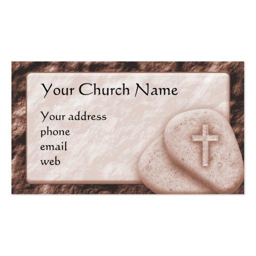 Tarjeta de visita cristiana de la cruz de la sepia