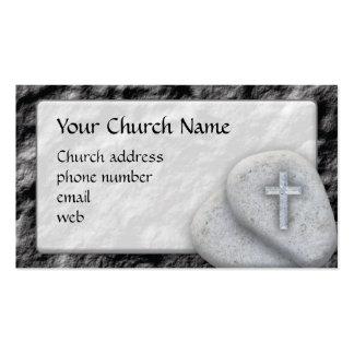 Tarjeta de visita cristiana de la roca