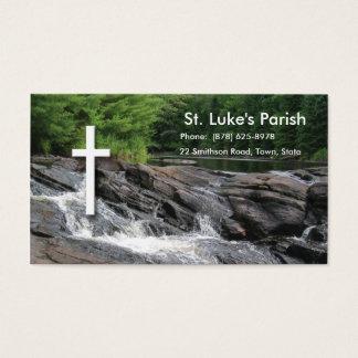 Tarjeta de visita cristiana de las cascadas