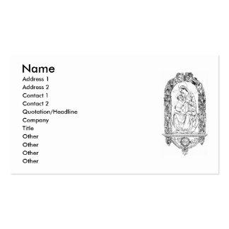 Tarjeta de visita cristiana de los símbolos