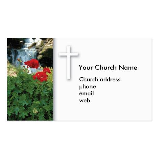 Tarjeta de visita cristiana del geranio