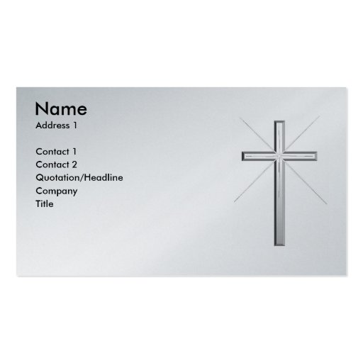 Tarjeta de visita cristiana