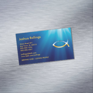 Tarjeta de visita cristiana tarjetas de visita magnéticas (paquete de 25)