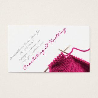 Tarjeta de visita Crocheting y que hace punto