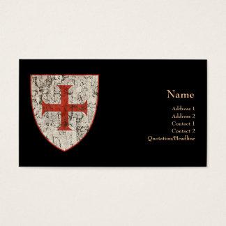 Tarjeta De Visita Cruz de Templar, apenada