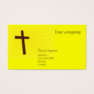 Tarjeta de visita cruzada cristiana