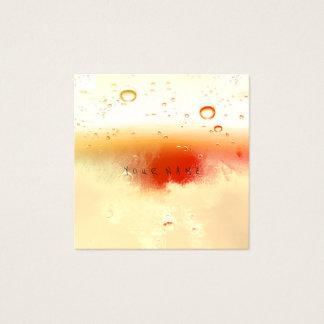 Tarjeta De Visita Cuadrada Bolas abstractas blancas rojas cremosas de marfil