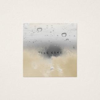 Tarjeta De Visita Cuadrada Bolas abstractas grises grises cremosas de marfil