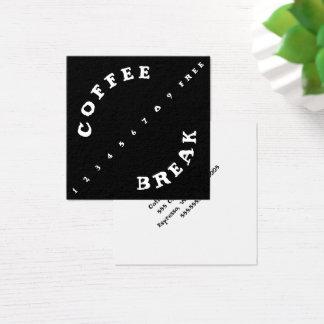 Tarjeta De Visita Cuadrada Café simple de la lealtad del sacador anguloso de