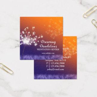 Tarjeta De Visita Cuadrada Centro crepuscular de la meditación de los dientes